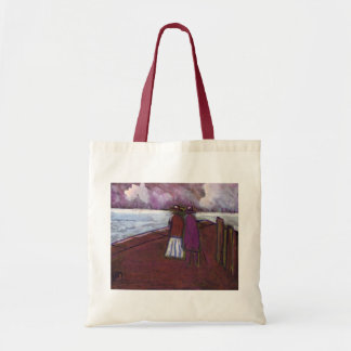 A walk on the quayside budget tote bag