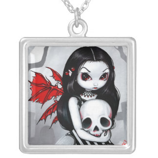 A Walk Through the Cemetery NECKLACE fairy skull