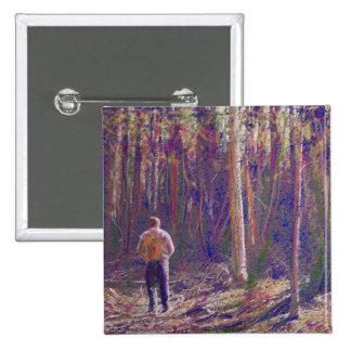 A Walk Through the Woods Button Pinback Buttons