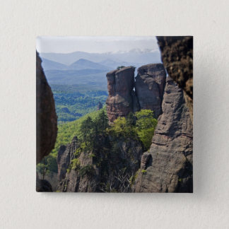 A walk throught Belogradchik Castle Ruins 15 Cm Square Badge