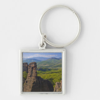 A walk throught Belogradchik Castle Ruins 2 Silver-Colored Square Key Ring