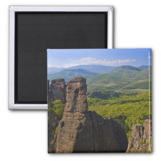 A walk throught Belogradchik Castle Ruins 2 Square Magnet