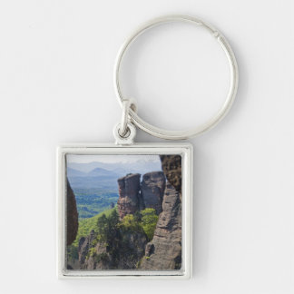 A walk throught Belogradchik Castle Ruins Silver-Colored Square Key Ring