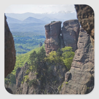 A walk throught Belogradchik Castle Ruins Square Sticker