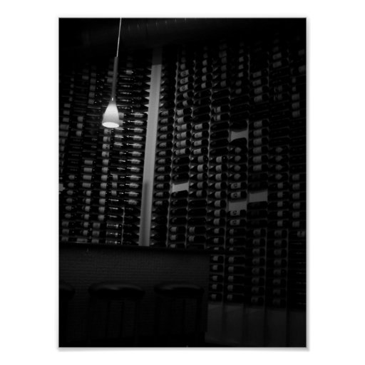 a wall of wine poster