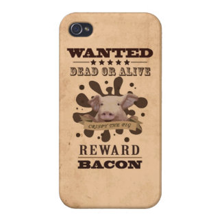 A Wanted Pig don't want to be a Bacon Cover For iPhone 4