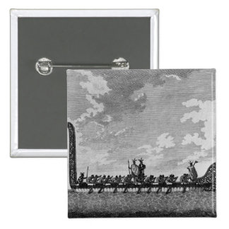 A War Canoe of New Zealand 15 Cm Square Badge