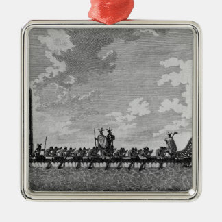 A War Canoe of New Zealand Christmas Ornament