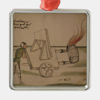 A War Machine, illustration from 'De Machinis' Christmas Ornament