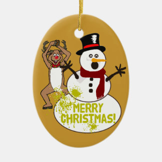A Warm Christmas Message Christmas Ornament