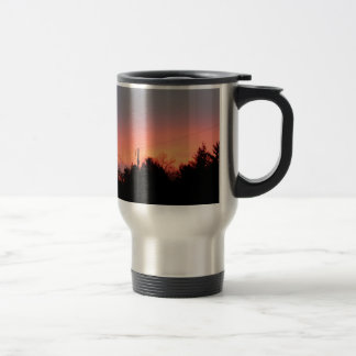a warm sunrise to brighten your drive travel mug
