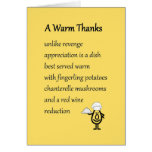A Warm Thanks - a funny thank you poem