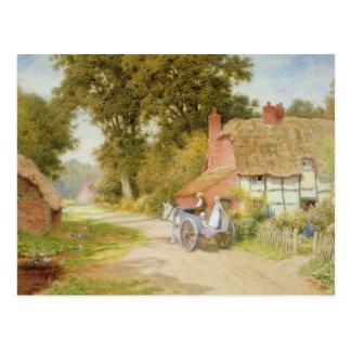 A Warwickshire Lane Postcard