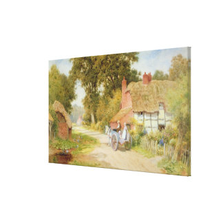 A Warwickshire Lane Stretched Canvas Prints