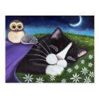 A Watchful Eye   Fantasy Tuxedo Cat Art Postcard