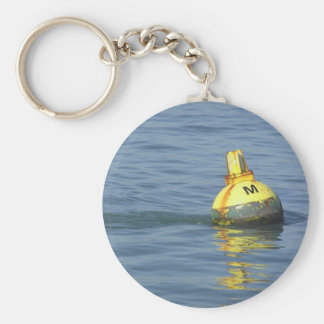A water buoy in blue waters of San Francisco Bay Keychain