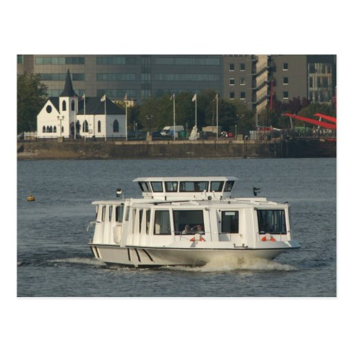 A Water Bus at Cardiff Bay Postcards