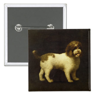 A Water Spaniel, 1769 (oil on canvas) 15 Cm Square Badge