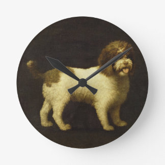 A Water Spaniel, 1769 (oil on canvas) Round Clock
