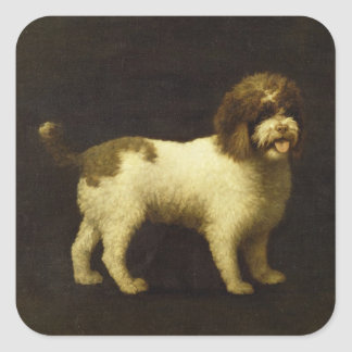 A Water Spaniel, 1769 (oil on canvas) Square Sticker