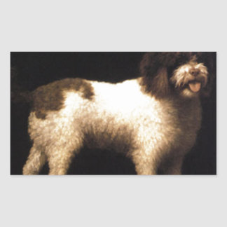 A Water Spaniel by George Stubbs Rectangular Sticker
