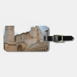 A watercolour of the Basilica of St Francis,Assisi Luggage Tag