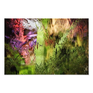A waterfall at a flower show photo print