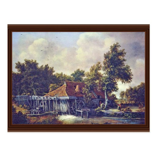 A Watermill. [1] By Meindert Hobbema (Best Quality Postcard