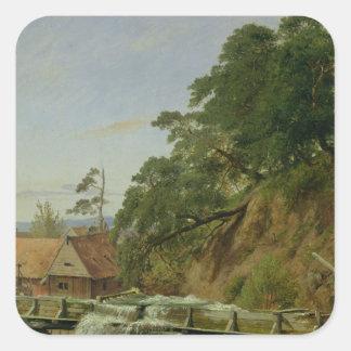 A Watermill in Christiania, c.1834 Square Sticker