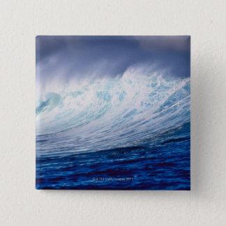 a wave building 15 cm square badge