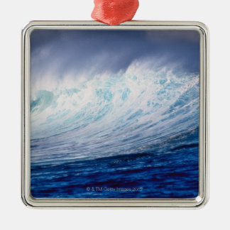 a wave building christmas ornament