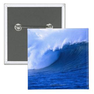 a wave crashing 15 cm square badge