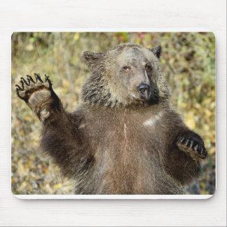 A Waving Grizzly Bear Mousepad
