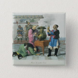 A Way of Telling the Future, engraved by Mlle. For 15 Cm Square Badge