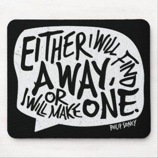 A Way Typography Motivational Quote Mouse Mat