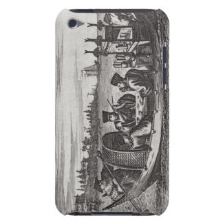 A Wealthy Mandarin Dining in a Boat, illustration iPod Case-Mate Cases