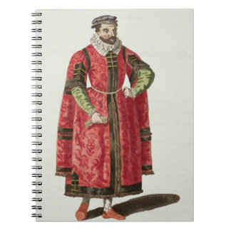 A Wealthy Merchant of London in 1588 (engraving) Notebooks