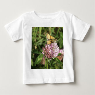 A wee moth on a wee flower baby T-Shirt