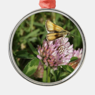 A wee moth on a wee flower christmas ornament