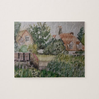 A Weir in the Historic Town of Sandwich England Jigsaw Puzzle