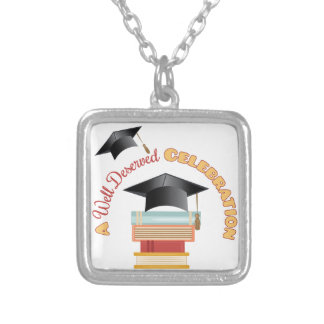 A Well Deserved Celebration Square Pendant Necklace