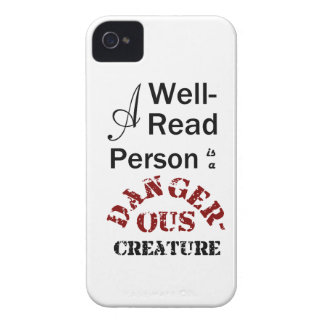 A Well-Read Person is a Dangerous Creature iPhone 4 Covers