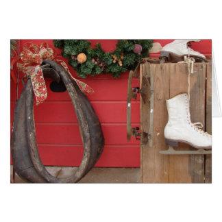A Western Christmas Display Greeting Card