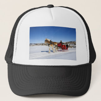 A Western Christmas - Horse Christmas Sleigh Trucker Hat