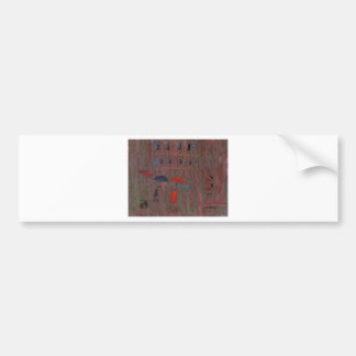 A wet day in venice bumper sticker