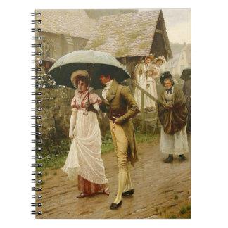 A Wet Sunday Morning Spiral Notebook