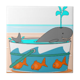 A Whale in a pail Tile