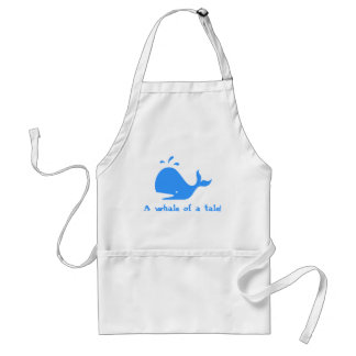 A whale of a tale! adult apron