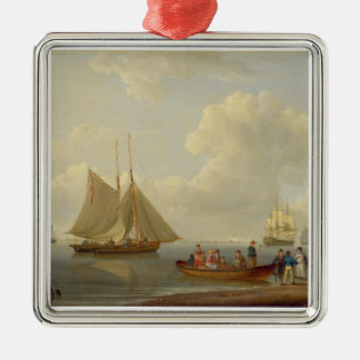 A Wherry Taking Passengers out to Two Anchored Pac Christmas Ornament