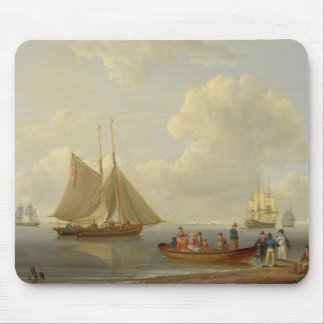 A Wherry Taking Passengers out to Two Anchored Pac Mouse Mat